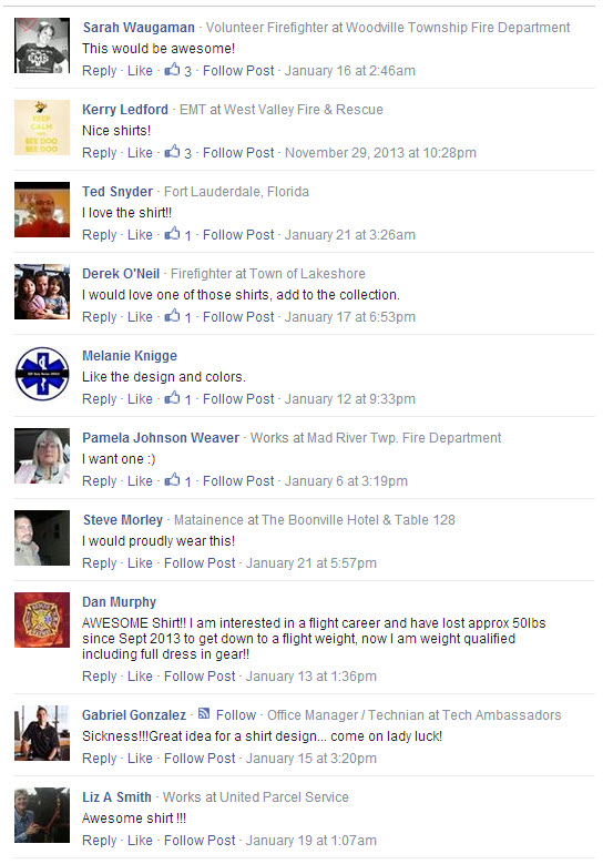 Tail Rotor Club T-shirt Testimonials facebook