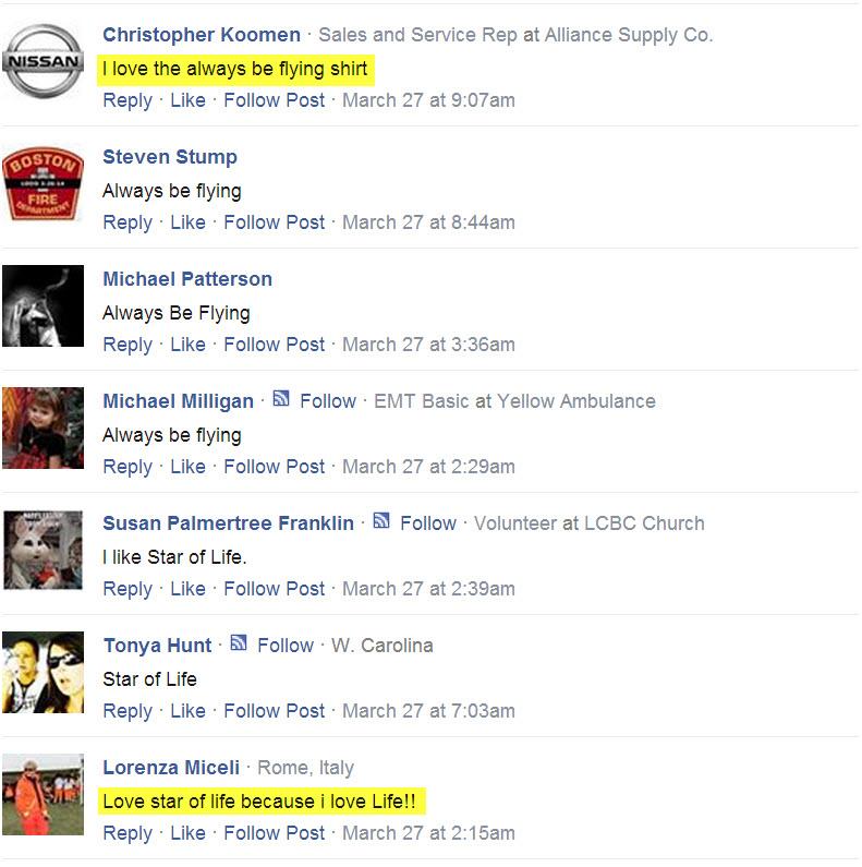 Always Be Flying T-shirt Testimonials facebook 12