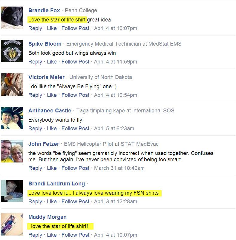 Always Be Flying T-shirt Testimonials facebook 14