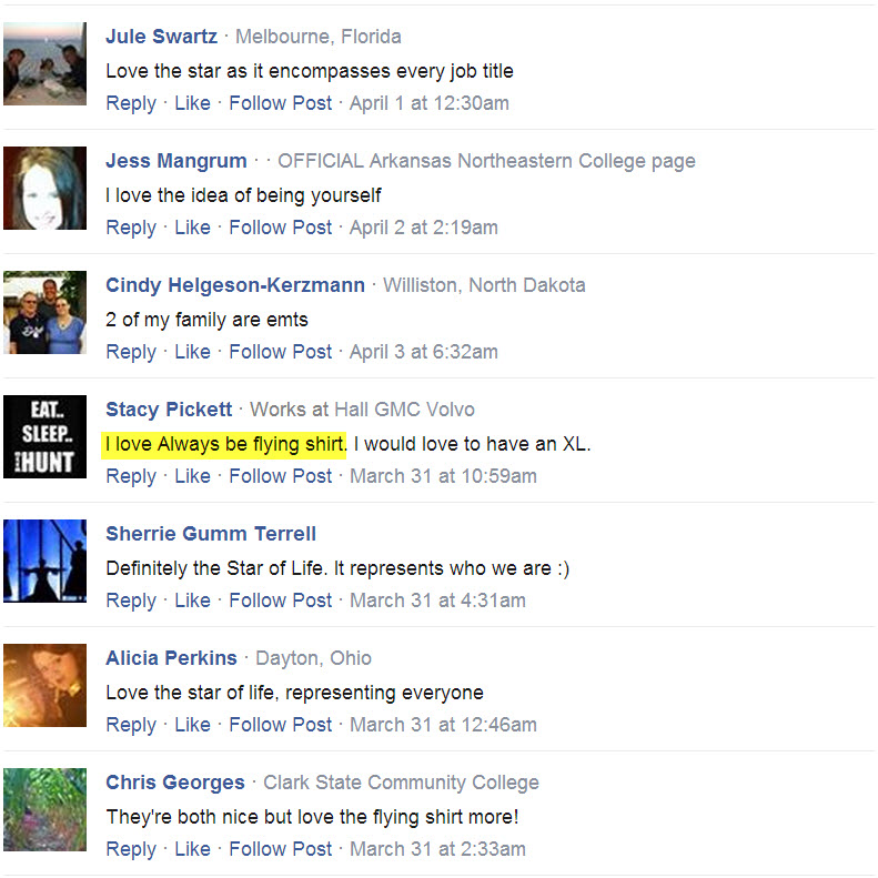 Always Be Flying T-shirt Testimonials facebook 16