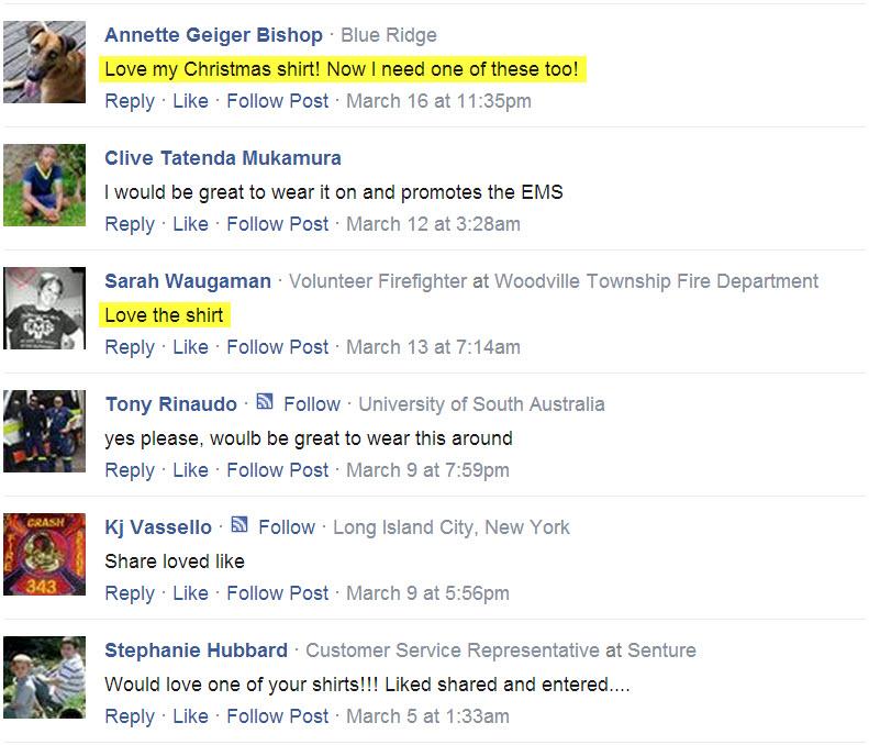 CFS T-shirt Testimonials facebook