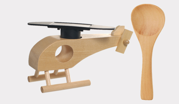 Wooden Spoon and Wooden Helicopter