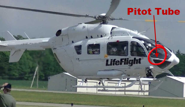 Pitot Tubes on LifeFlight Helicopter