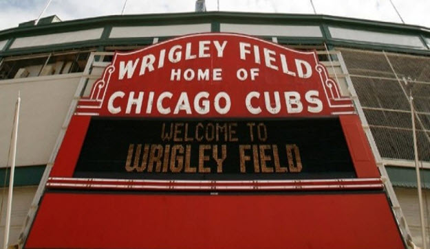 Wrigley Field Home of Chicago Cubs Sign