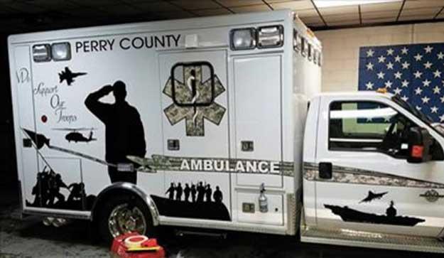 EMS Ambulance Service Honors Veterans