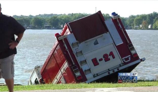 Stolen Firetruck Ends Up In Mississippi River