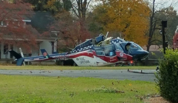 Air Evac Lifeteam Helicopter Crashes, 3 On Board