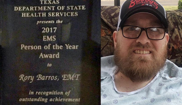 Texas Honors Injured Paramedic Who Pushed His Partner To Safety