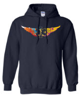 Colorful EMS Wings Navy Hoodie