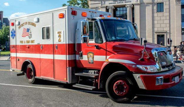 Bullet Rips through Ambulance as Patient Exits Building