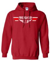 Firfighter Landing Zone Wings Red Hoodie