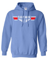 Flight Nurse Carolina Blue Hoodie