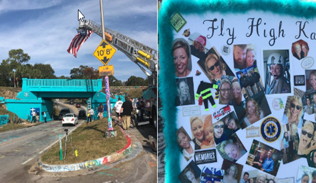 Graffiti Bridge Honors Flight Medic Who Lost Battle to Cancer