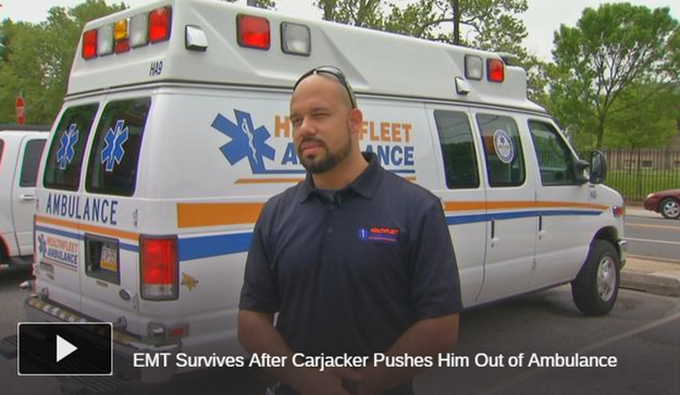 Carjacker Pushes EMT Out of Moving Ambulance