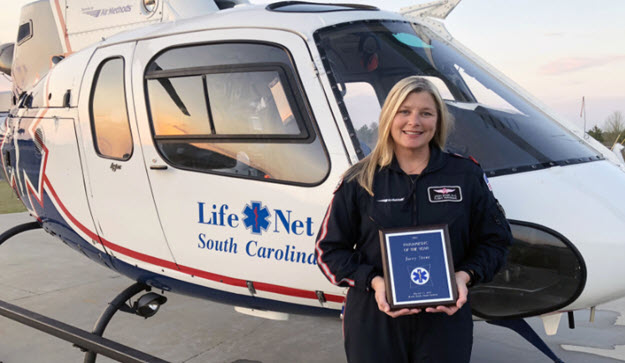 Jacey Stone Earns state's Paramedic of the Year Award