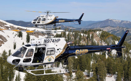 CHP Helicopter Crews Keep Busy with Three Mountain Rescues