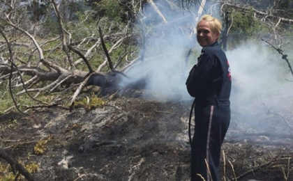 Medical Helicopter Crew Helps Fight Wildland Fire
