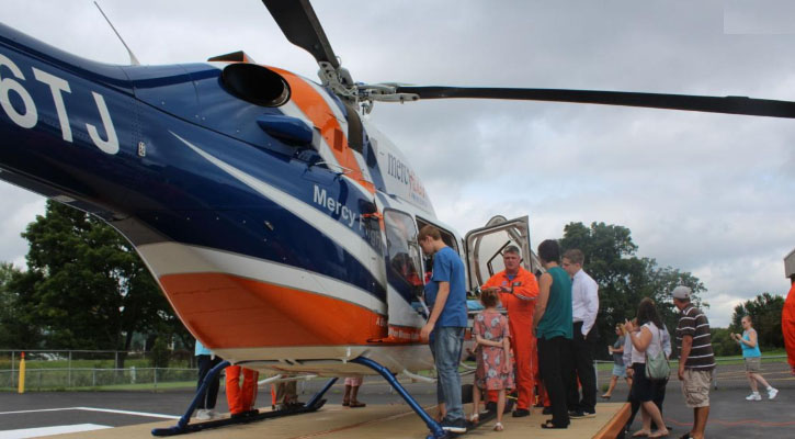 Mercy Flight Unveils New Helicopter at OGH Flight Hangar