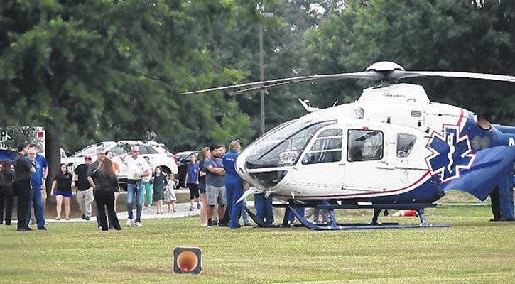 Duke Life Flight Lands at Sampson Community College