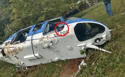 Helicopter crash in Mexico