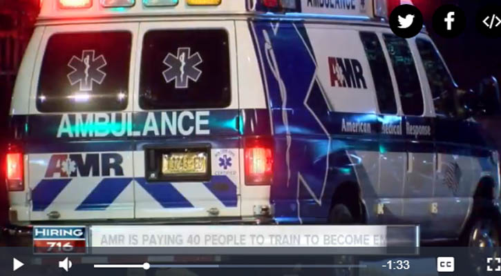 AMR is paying 40 people to train to become EMTs