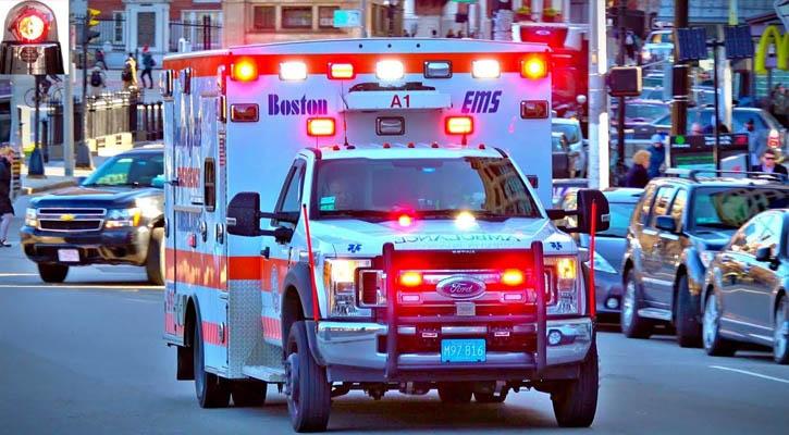 Boston Ambulance Involved In Crash While Heading To Hospital