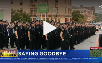 Officers Celebrate Calvin Hall's Life - End of Watch Ceremony