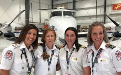 All-Female Air Ambulance Crew Makes History