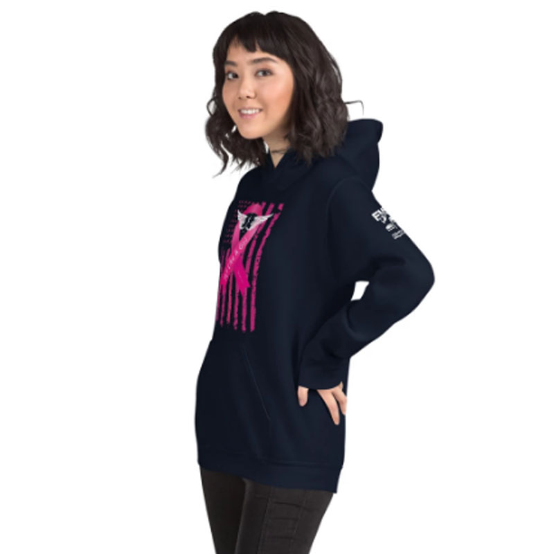 Fly Like A Girl Hoodie Side View