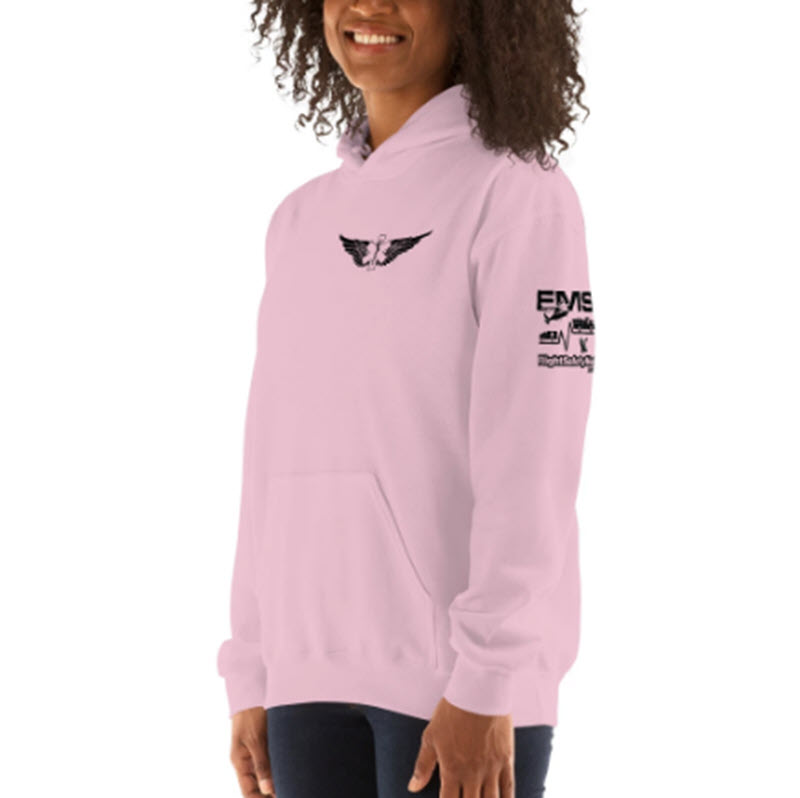 Fly with Big Girls Hoodie Pink 800