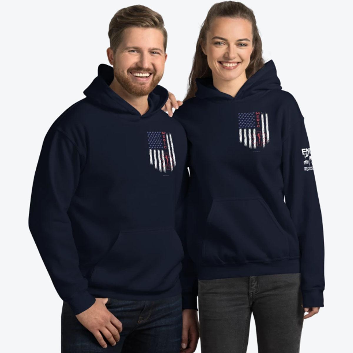 American Medic Pride Navy Couple Hoodie 1200