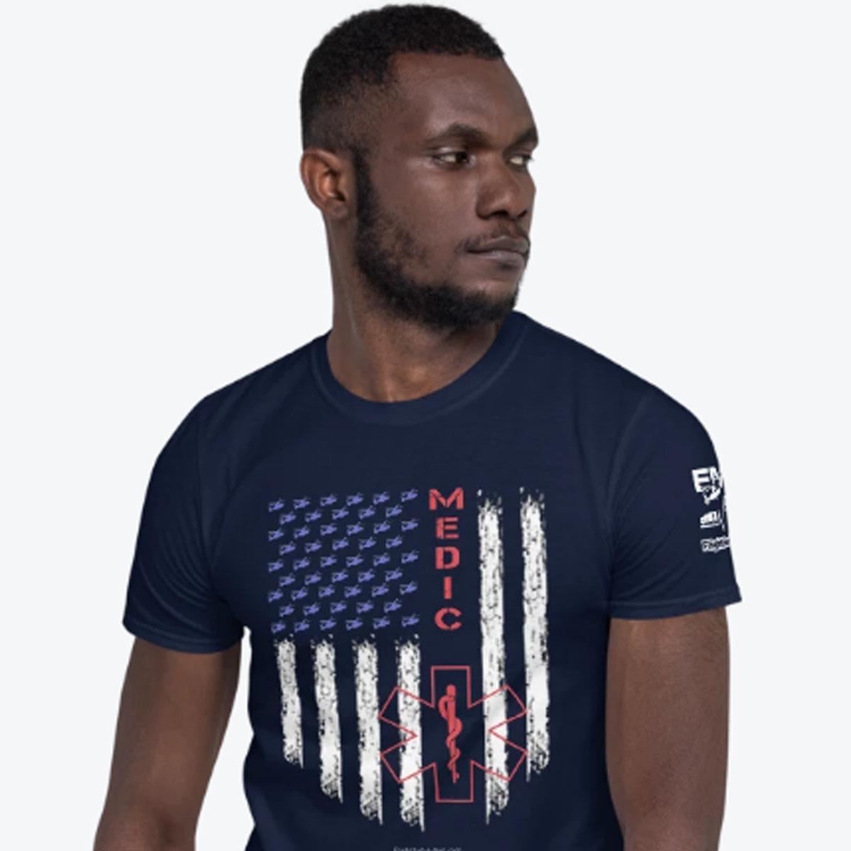 American Medic Pride Navy T-shirt 1200
