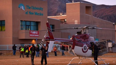Classic Air Medical Helicopter Visits UNM