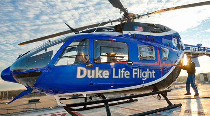 Duke Life Flight Welomed by Metro Aviation