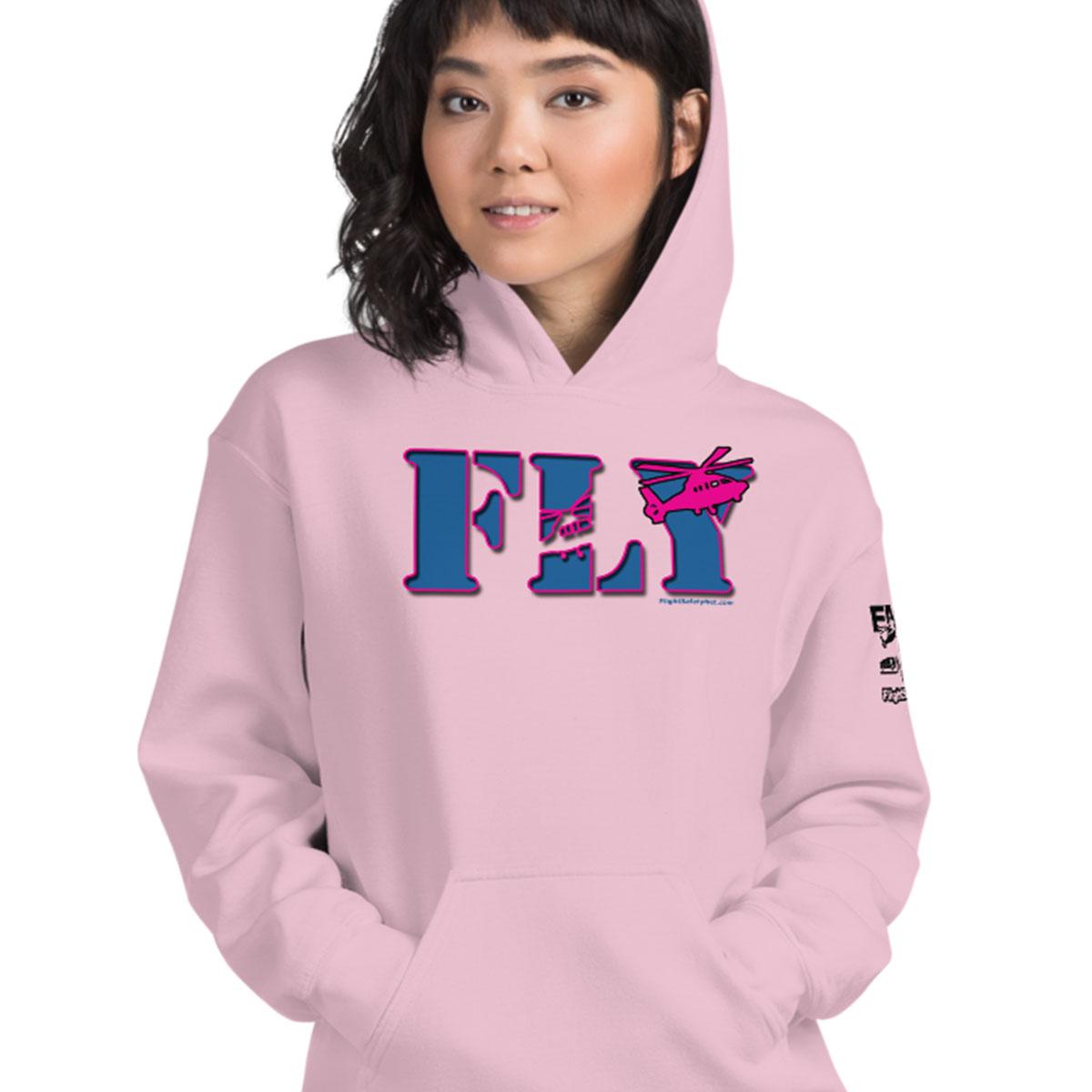 FLY Pink Hoodie female