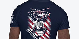 Firefighter Navy Tshirt