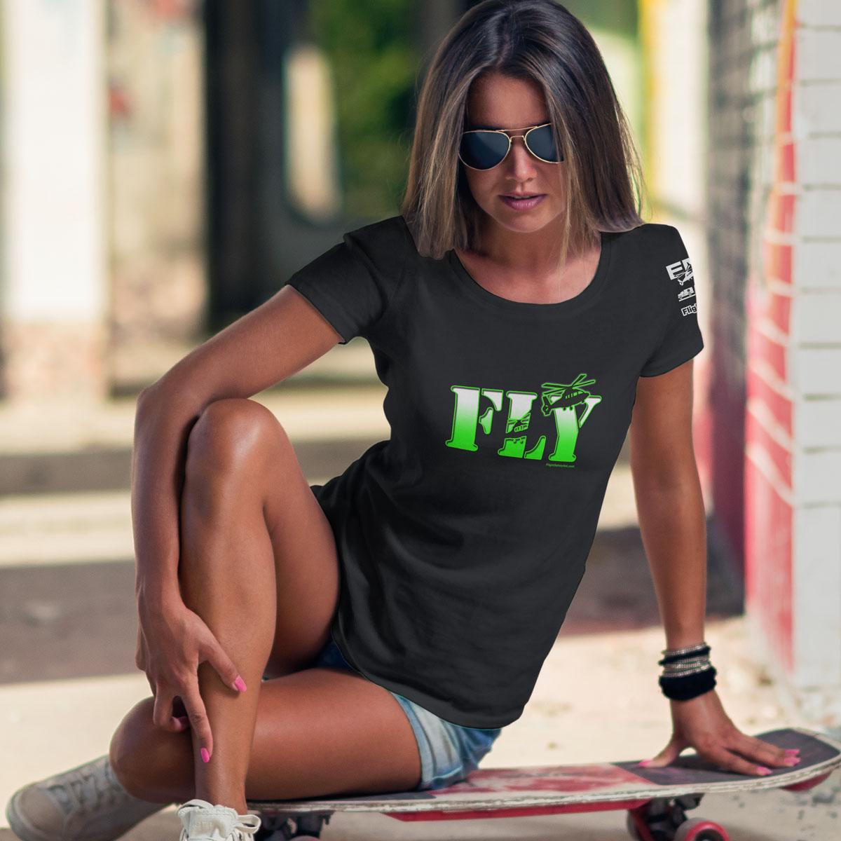 Fly NVG Black Tshirt Female 1200