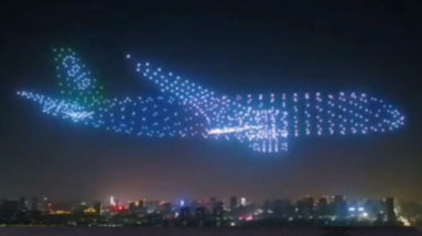 Ghost Plane Made by Drones