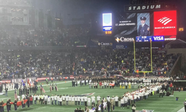Patriots and Cowboys Honor Fallen Firefighter