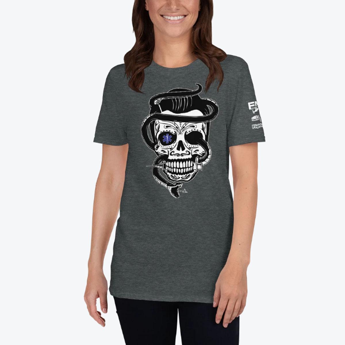 Sugar Skull Grey Woman T-shirt 1200