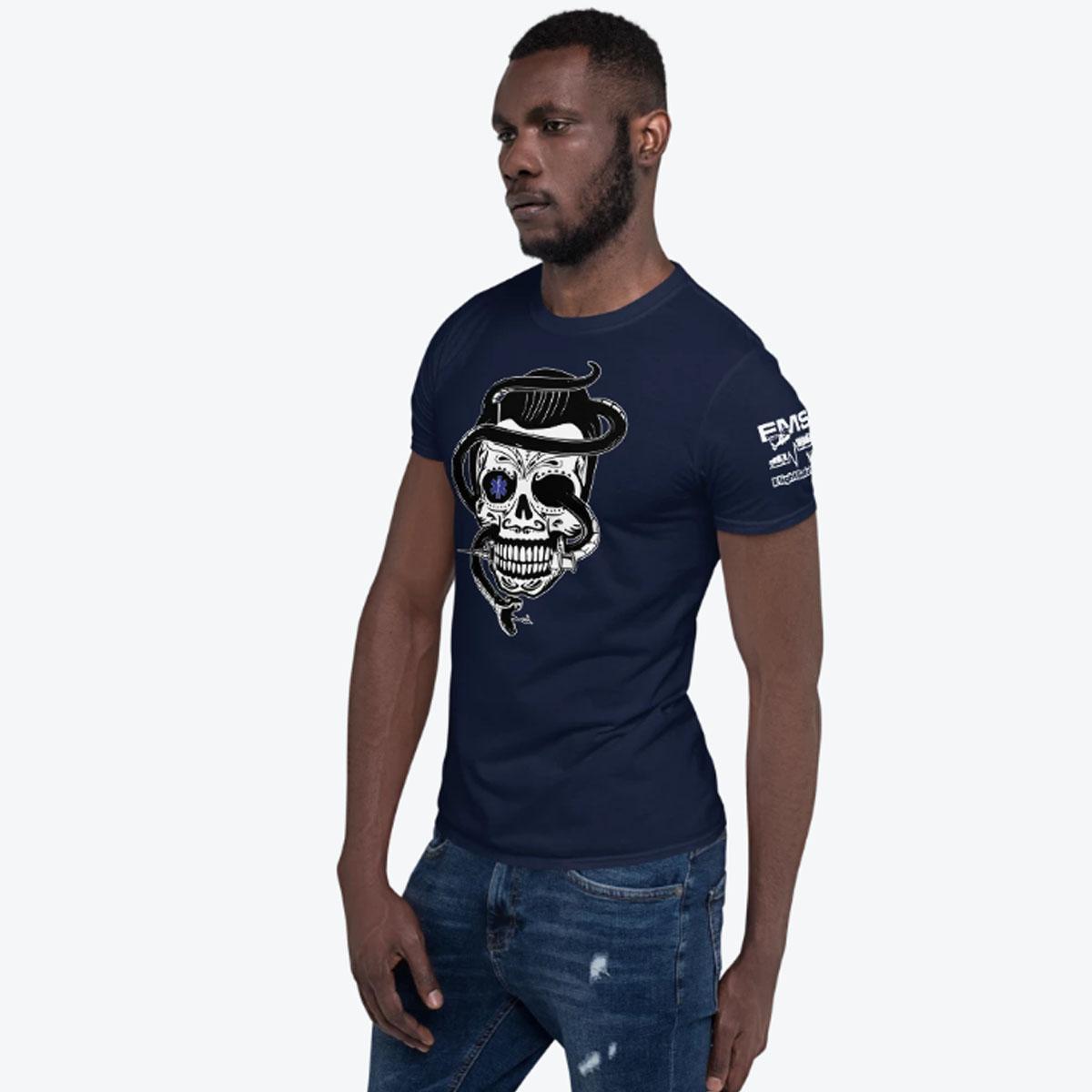 Sugar Skull Navy T-shirt 1200