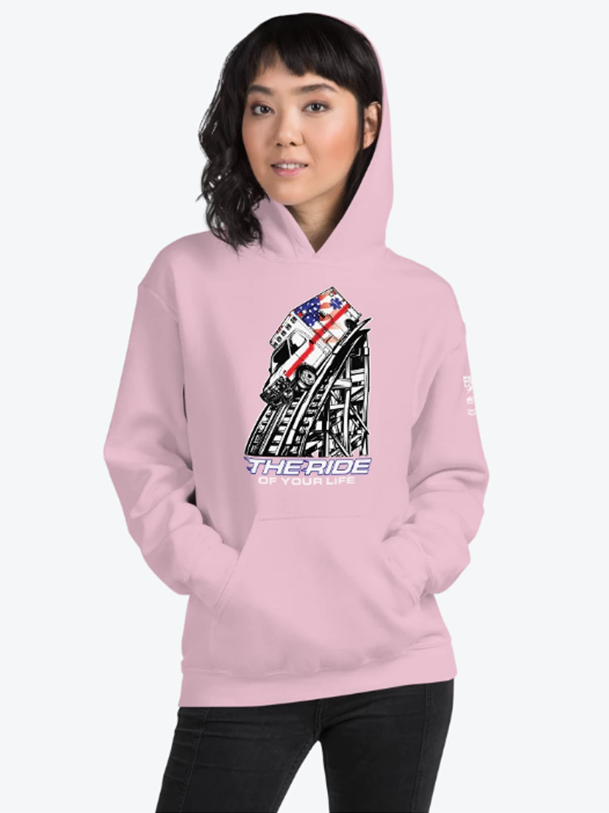 The Ride of Your Life Pink Hoodie